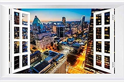 Amazon: Shobrilf Vancouver Night Lights On The Street – World Within Widely Used Vancouver 3D Wall Art (View 6 of 15)