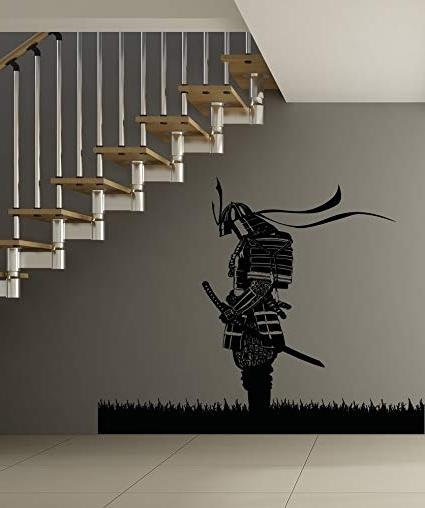Amazon: Stickerbrand Asian Décor Vinyl Wall Art Meditating Regarding Preferred Samurai Wall Art (View 2 of 15)