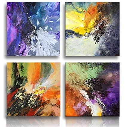 Amazon: Sunrise Art Large Canvas Prints Abstract Canvas Wall Art In Most Popular Original Abstract Wall Art (Gallery 3 of 15)