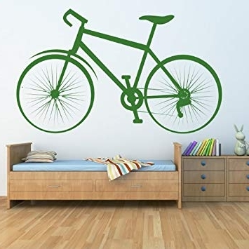 Amazon: Traditional Bicycle Bike Bmx & Cycling Wall Stickers With Regard To Current Cycling Wall Art (Gallery 13 of 15)