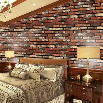 Amazon: Wall Art – Creative Wall Stickers Simulation Waterproof Pertaining To Recent 3D Brick Wall Art (View 1 of 15)