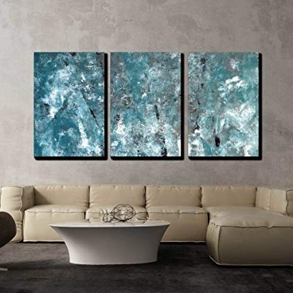 Amazon: Wall26 – 3 Piece Canvas Wall Art – Teal And Grey Throughout Well Known Abstract Canvas Wall Art Iii (Gallery 3 of 15)