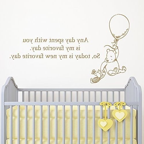 Amazon: Winnie The Pooh And Piglet Quote Wall Decal Nursery Wall Regarding Most Popular Winnie The Pooh Nursery Quotes Wall Art (View 9 of 15)