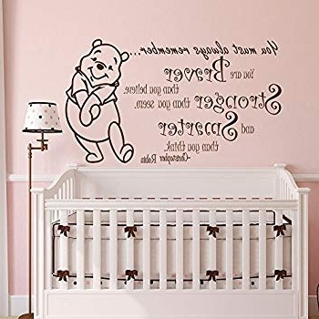 Amazon: Winnie The Pooh Quote Wall Decal Vinyl Sticker Decals Throughout Recent Winnie The Pooh Nursery Quotes Wall Art (Gallery 11 of 15)