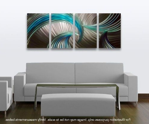 Amazonsmile – Metal Wall Art, Modern Home Decor, Abstract Wall For Popular Sculpture Abstract Wall Art (View 2 of 15)