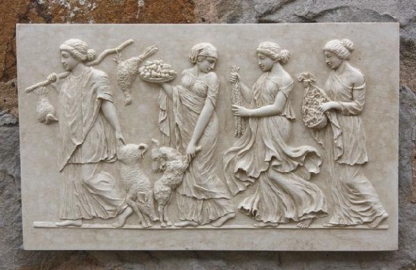 Ancient Greek Wall Art In Current Greek Frieze Wall Plaque – Garden Wall Plaques Online Greek Wall (Gallery 1 of 15)