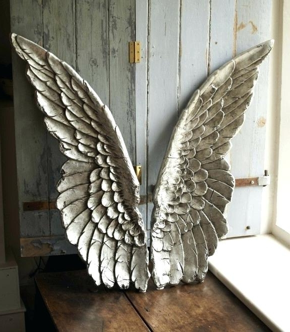 Angel Wing Sculptures Ideas Angel Wings Wall Decor Home Ideas Intended For Newest Angel Wings Sculpture Plaque Wall Art (View 2 of 15)