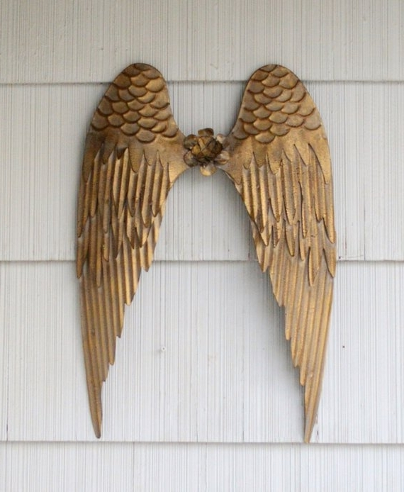 Angel Wings Wall Art In 2017 Angels Wings Wall Art. Angel Wall Decor. Metal Angel Wings. (Gallery 9 of 15)