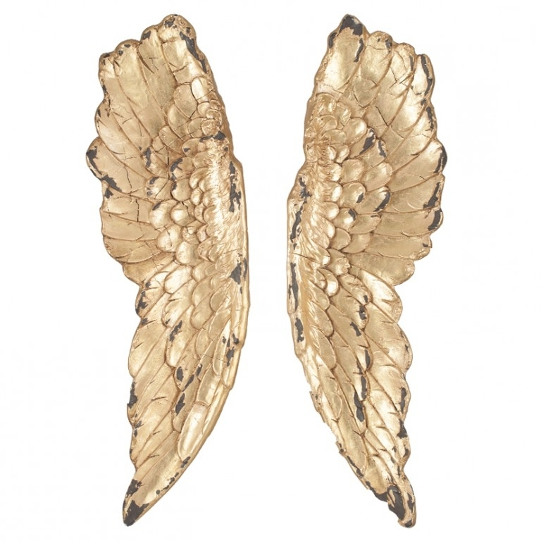 Angel Wings Wall Art With Regard To Preferred Gold Angel Wings Wall Art – Cotterell & Co (View 5 of 15)