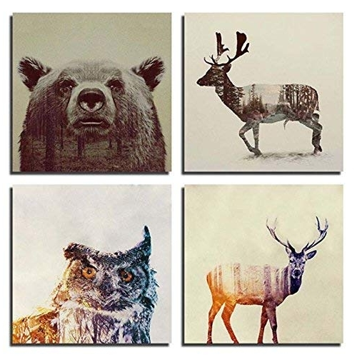 Animal Wall Art Within Preferred Canvas Animal Wall Art: Amazon (View 6 of 15)