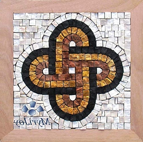 "Anniversary Diy Gift Mosaic Kit Solomon's Knot 9""x9"" Mosaic Wall Art Intended For 2017 Mosaic Art Kits For Adults (View 9 of 15)"