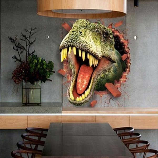 Appealing 3D Dinosaur Wall Art Decoration Ideas 3D Dinosaurs Pertaining To Fashionable 3D Dinosaur Wall Art Decor (View 9 of 15)