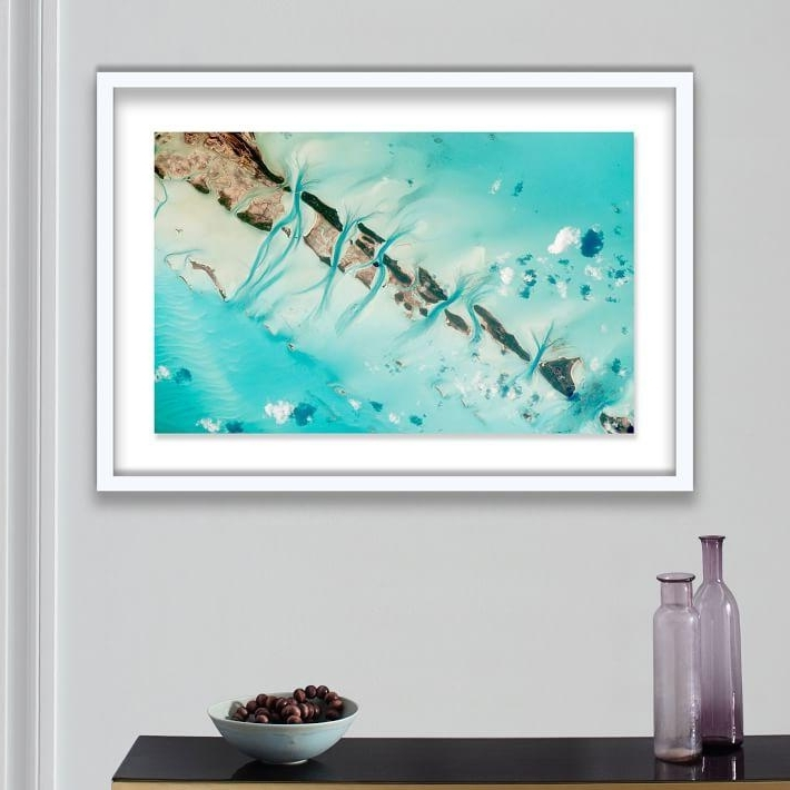 Aqua Abstract Wall Art Pertaining To Preferred Aqua Sea Abstract Framed Print (View 7 of 15)