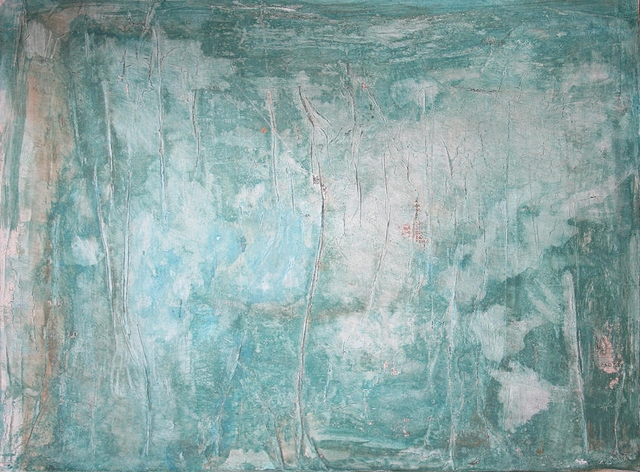 Aqua Abstract Wall Art Within Most Popular Rustic Aqua Abstract Art Paintingstephanie Kriza (View 12 of 15)