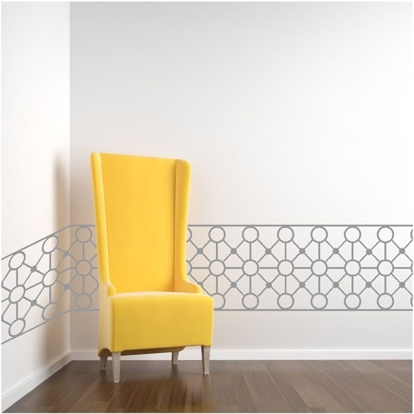 Art Deco Border Decals Stickers : High Style Wall Decals, Wall Intended For Most Recently Released Wall Art Deco Decals (View 5 of 15)