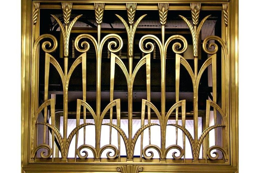 Art Deco Metal Wall Art Throughout Recent Art Deco Metal Wall Art Lobby Of The Board Of Trade Building (View 4 of 15)