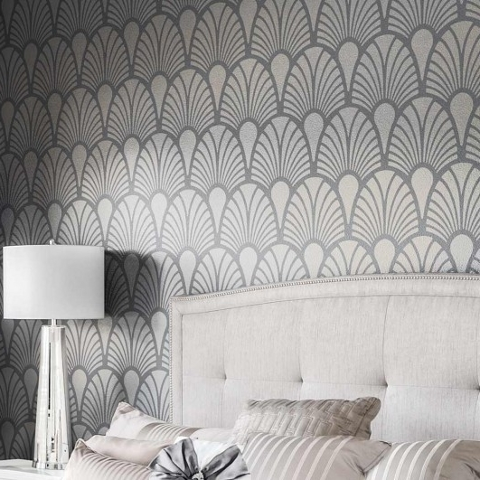 Art Deco Stencils – Glamorous Wall Stencils Instead Of Wallpaper Pertaining To Famous Glamorous Wall Art (Gallery 13 of 15)