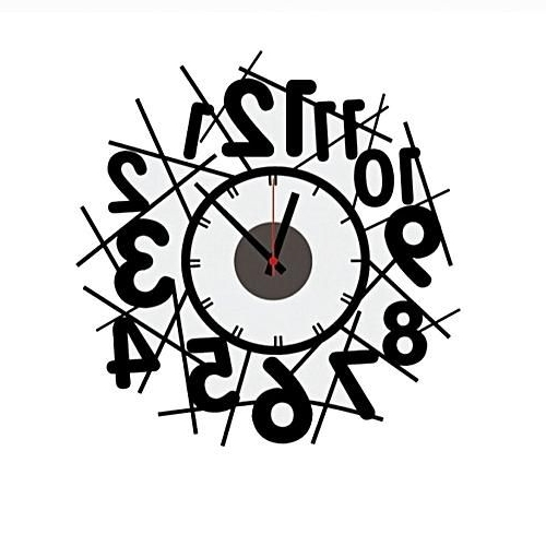 Art Deco Wall Clocks Within Well Known Generic Creative Diy Wallpaper Digital Wallpaper Clock Art Deco Wall (View 15 of 15)