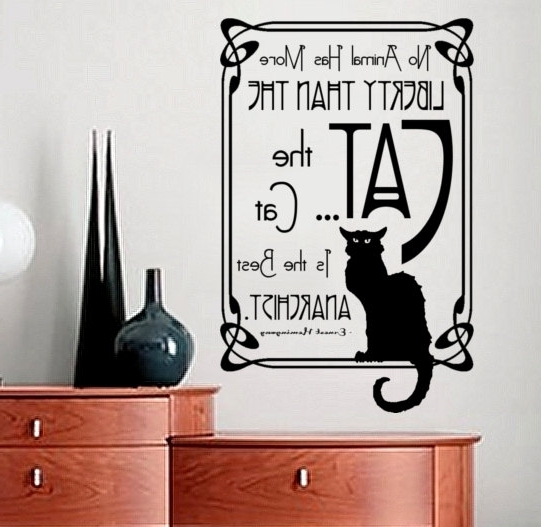 Art Nouveau Wall Decals Wall Decal Quote Ernest Hemingway Quote For Well Liked Art Nouveau Wall Decals (Gallery 7 of 15)