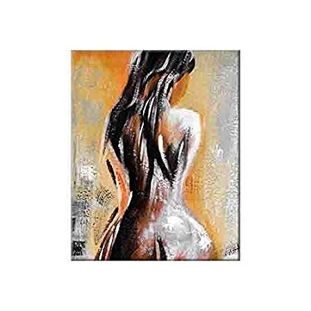 Artistic Nude Woman Painting Sexy Art Canvas Print Sensual Wall Pertaining To Recent Sensual Wall Art (Gallery 9 of 15)