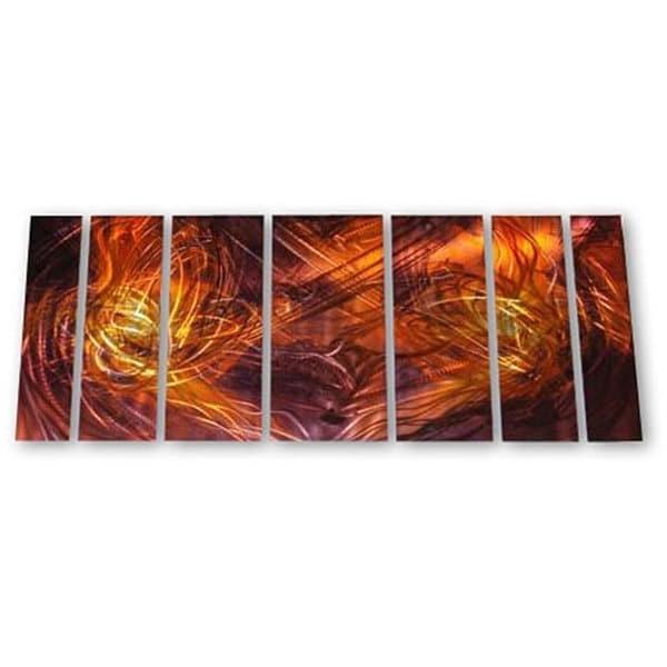 Ash Carl 'dueling Flames' 7 Piece Metal Art Set – Free Shipping With Regard To Favorite Ash Carl Metal Art (Gallery 10 of 15)