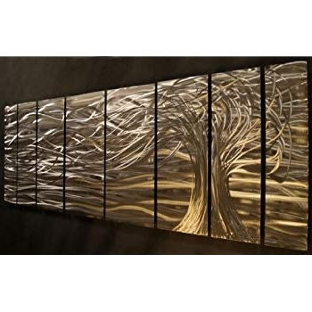 Ash Carl Metal Art With Most Recently Released Amazon: Contemporary Metal Wall Art. Wall Sculpturesash Carl (Gallery 6 of 15)