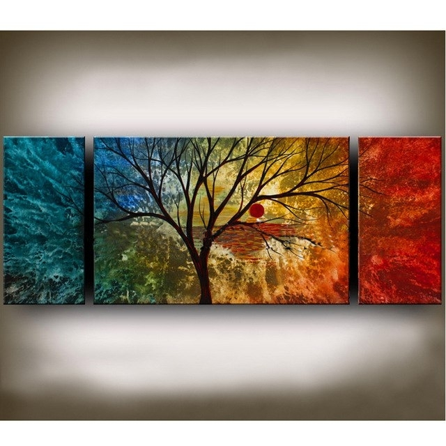 Asian Art Style Modern Abstract Huge Art Oil Painting Canvas Large For Famous Modern Abstract Huge Oil Painting Wall Art (View 3 of 15)