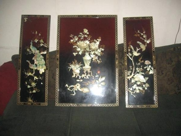 Asian Wall Art Figure Oriental Uk – Bcasa For Most Popular Asian Wall Art Panels (View 3 of 15)