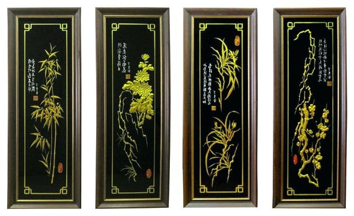 Asian Wall Art Panels In Most Current Asian Wall Art Panels Wall Art Panels Wall Art Panels Wall Art Ideas (View 5 of 15)