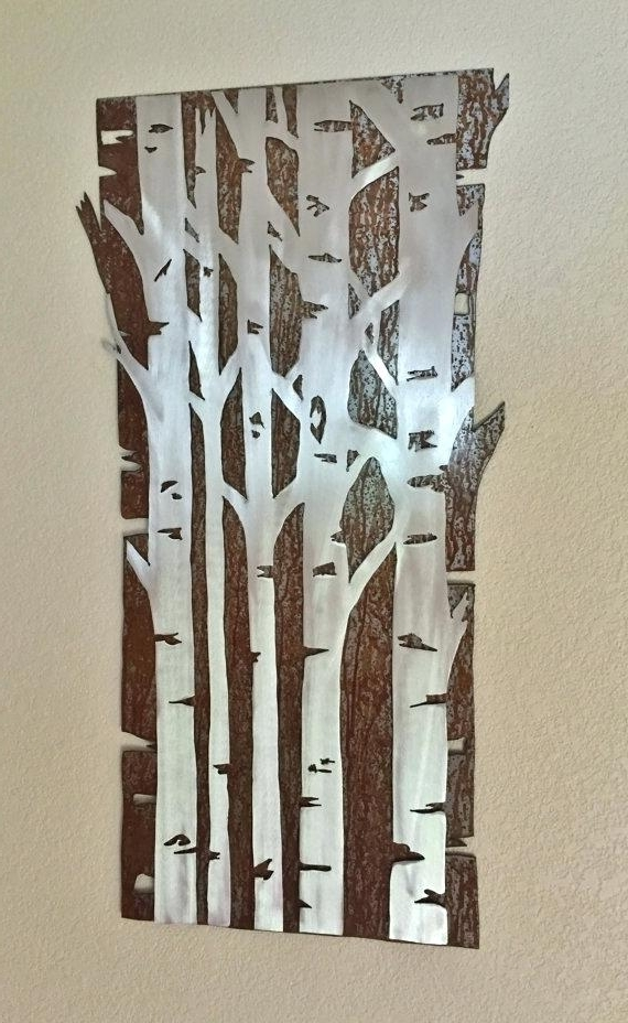 Aspen Tree Wall Art In Favorite Aspen Wall Art Tall Metal Wall Art Simple Wall Art Idea Aspen Tree (View 13 of 15)