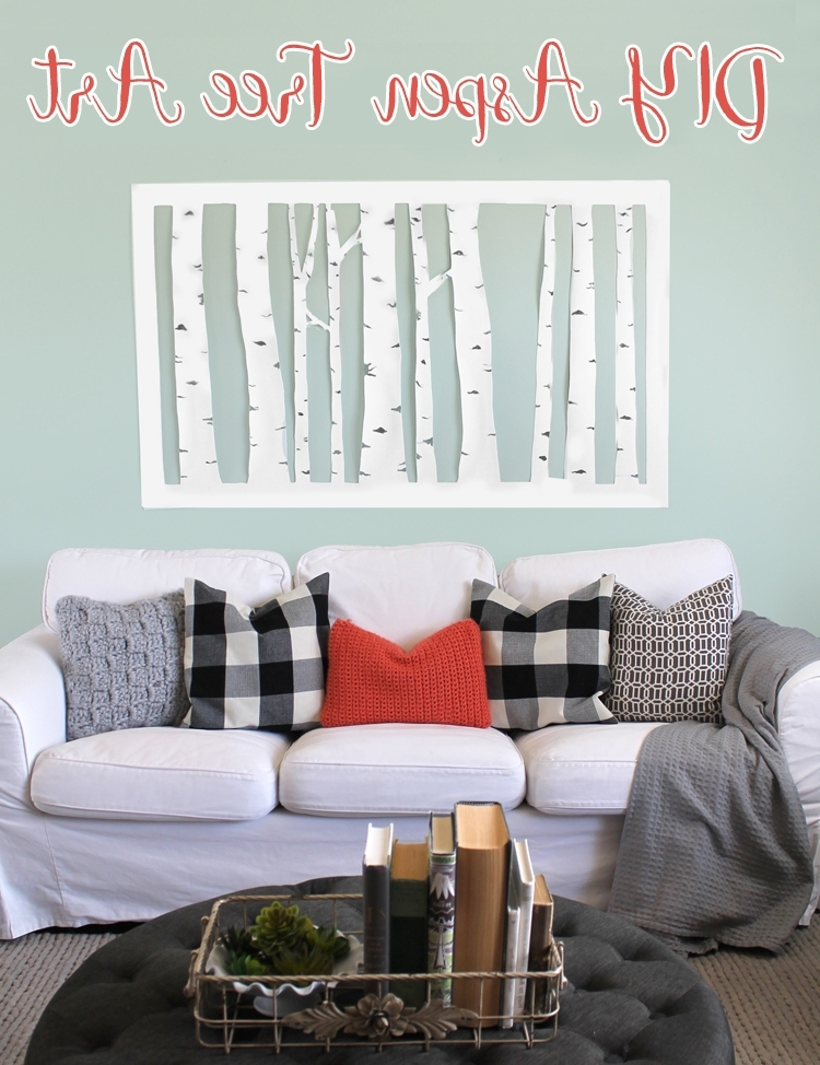Aspen Tree Wall Art Within Most Recently Released Large, Inexpensive Diy Aspen Tree Wall Art – Thecraftpatchblog (View 7 of 15)