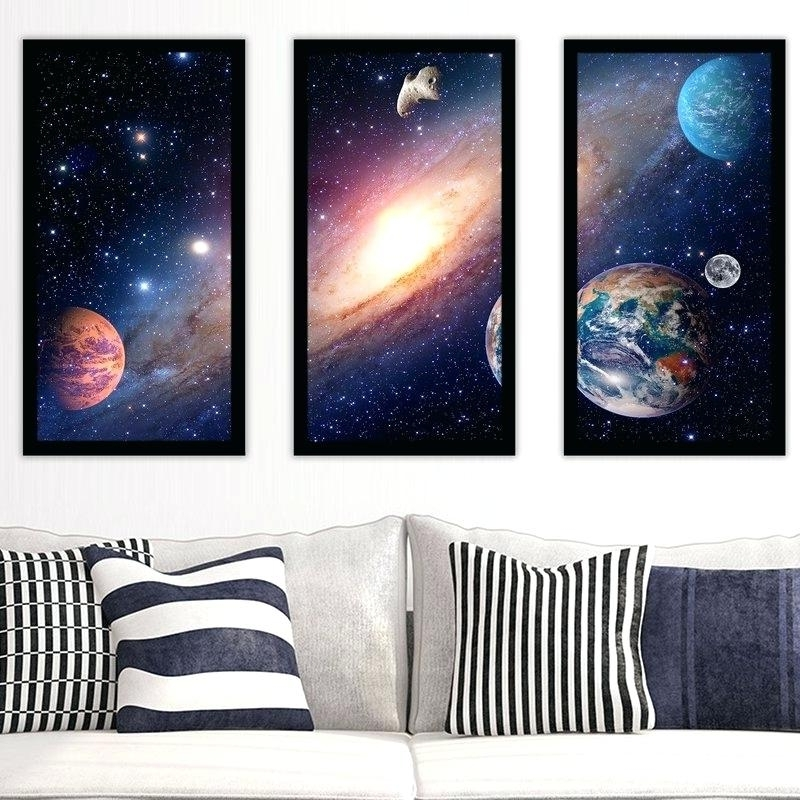 Astronaut 3D Wall Art In Most Current Solar System Wall Art Solar System 1 3 Piece Framed Wall Art Set (View 12 of 15)