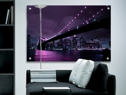 Aubergine Wall Art Throughout 2018 Aubergine New York Perspex Art. Glass Look Artwork (View 1 of 15)