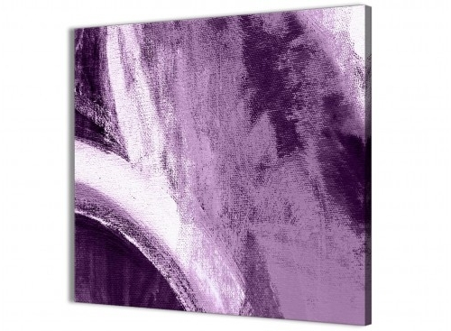 Aubergine Wall Art With Regard To Well Liked Aubergine Plum And White – Canvas Wall Art Decorations – Abstract (View 11 of 15)