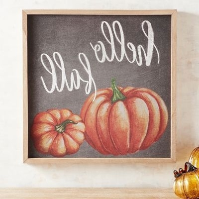 Autumn  Inspired Wall Art For Widely Used Hello Fall Pumpkin Wooden Box Wall Art (View 13 of 15)