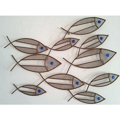 Awesome Contemporary Metal Wall Art Mini Fish Shoal Throughout In Most Popular Abstract Metal Fish Wall Art (View 4 of 15)