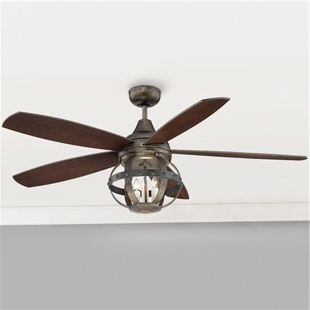 Awesome Indoor Outdoor Ceiling Fans With Lights Pertaining To Your With Favorite Outdoor Caged Ceiling Fans With Light (View 1 of 15)