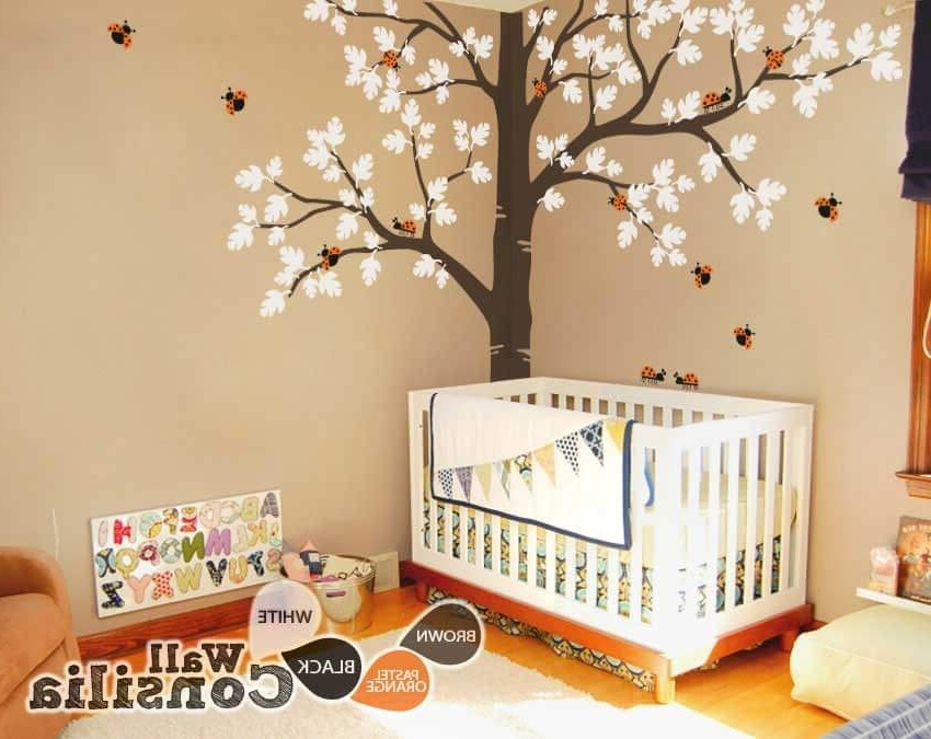 Baby Nursery Large Oak Tree Wall Decalwallconsilia In 2017 Oak Tree Wall Art (View 13 of 15)