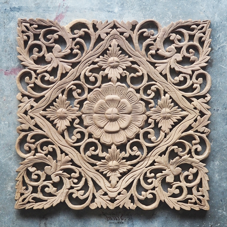 Balinese Wall Art Inside Widely Used Buy Lotus Carved Wood Wall Art Panel From Bali Online (View 4 of 15)