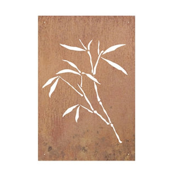 Bamboo Metal Wall Art With 2018 Bamboo Thin Leaves Laser Cut Metal Wall Art 90Cm (View 5 of 15)