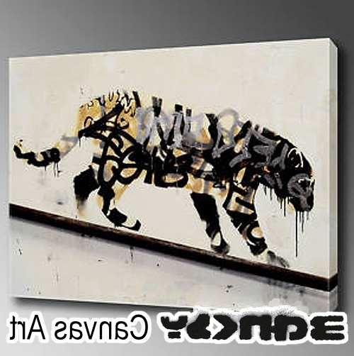 Banksy Canvas Wall Art With Favorite Abbey Clozest (View 14 of 15)