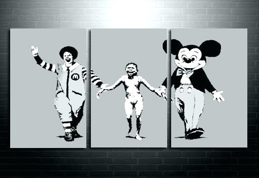 Banksy Wall Art Online Shop Waterproof What We Do In Life Echoes Intended For Well Known Banksy Wall Art Canvas (View 8 of 15)
