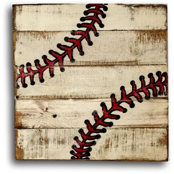 Baseball Wall Art Sports Decor Rustic Vintage Baseball Sign ($40 Inside Most Current Baseball 3D Wall Art (View 3 of 15)