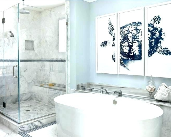 Bathroom Art Contemporary Bathroom Wall Decor Contemporary Bathroom With Regard To Well Known Contemporary Bathroom Wall Art (View 4 of 15)