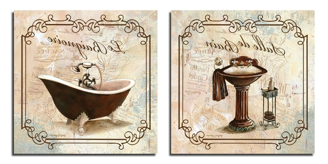 Bathroom Wall Art Bath Decor Canvas Pictures Posters Decorating Throughout Best And Newest Bath Wall Art (View 5 of 15)
