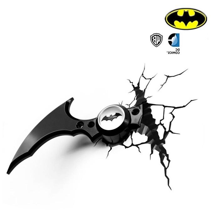 Batman 3D Wall Art With Regard To Newest Dc Comics Batman Batarang 3D Wall Art 3D Fx Deco Night Light (View 4 of 15)