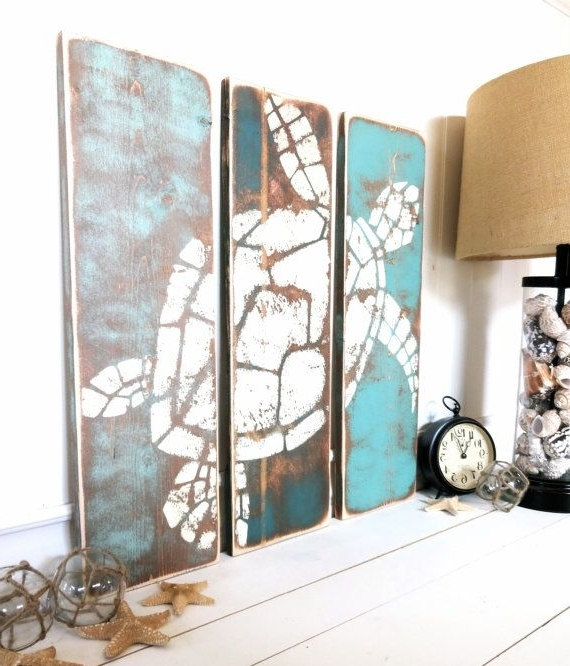 Beach Cottage Wall Art Inside Well Known Modest Ideas Beach House Wall Decor Ocean Nautical Bedroom Furniture (View 14 of 15)