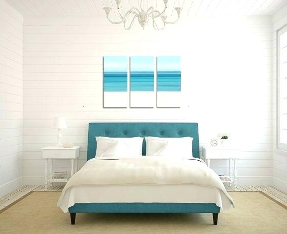 Beach Wall Art For Bedroom Inside Most Current Bedroom Wall Art Canvas Designs For Beach Decor Triptych Dining (View 7 of 15)