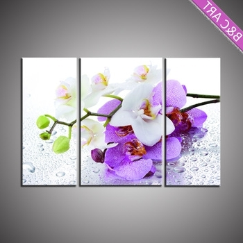 Beautiful Chinese Orchid Flower Interior 3D Wall Art Painting For Throughout Recent Flowers 3D Wall Art (View 10 of 15)