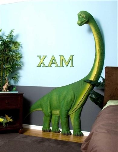 Featured Photo of Beetling Brachiosaurus Dinosaur 3D Wall Art